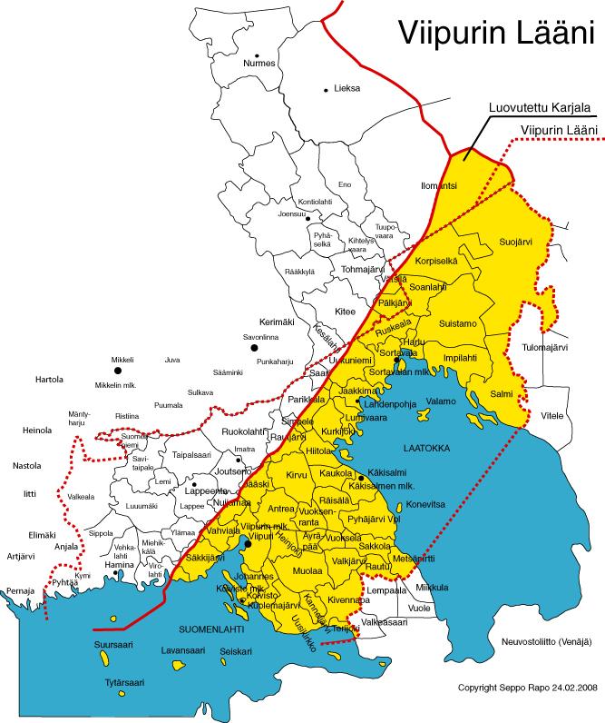 Viipurin Laanin Kartta
