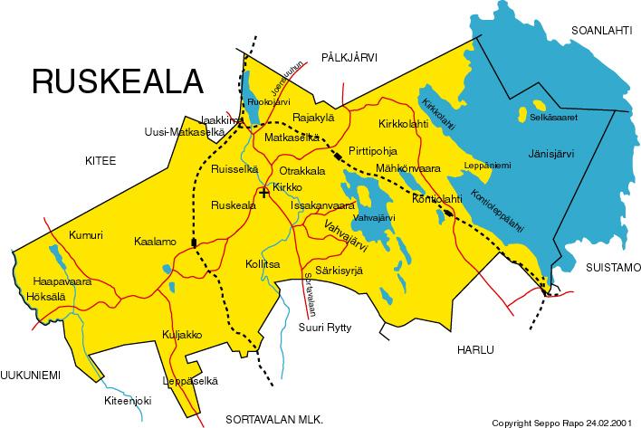 Ruskealan Kartta